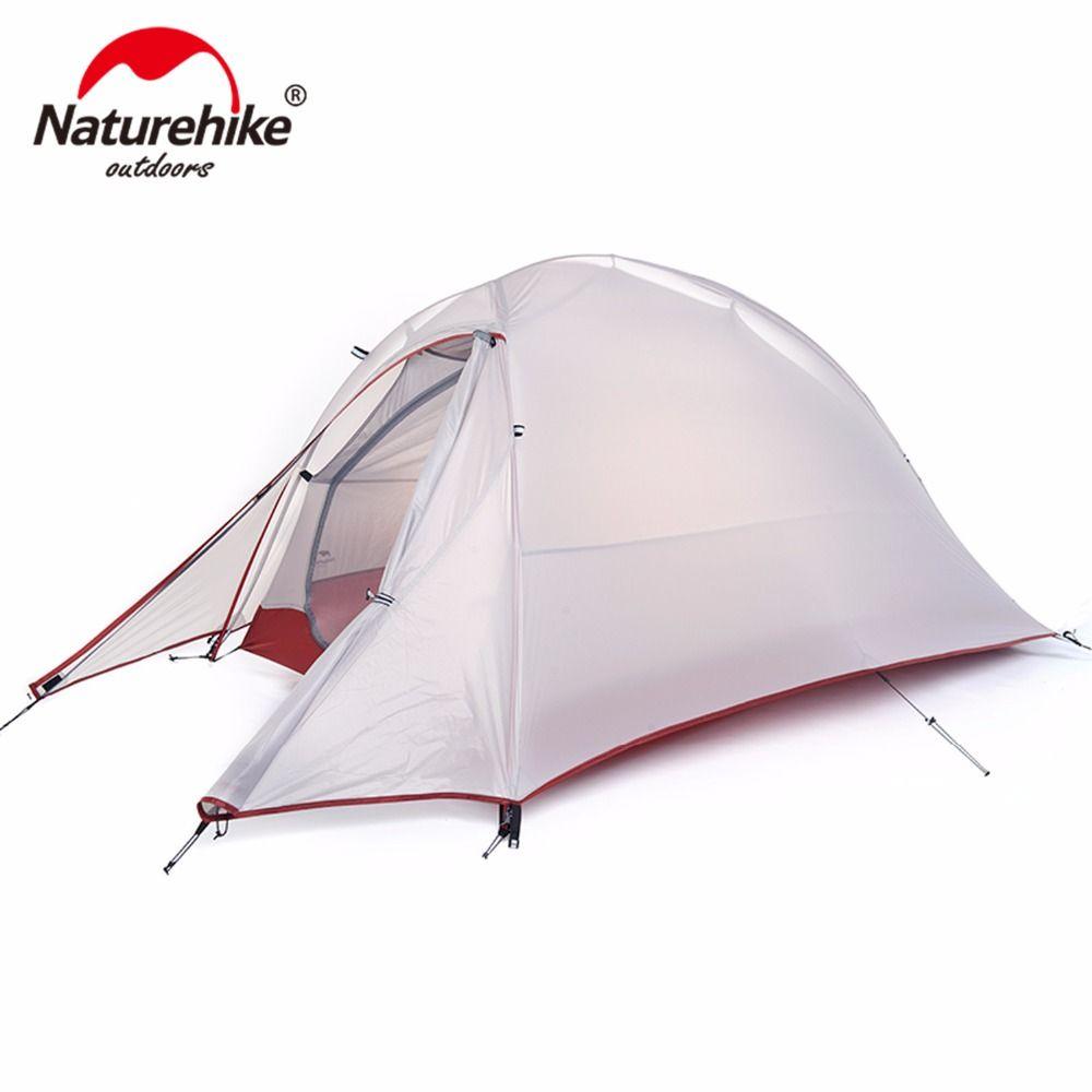 Naturehike CloudUp Serie Ultraleicht Wandern Zelt 20D/210 T Stoff Für 1 Person Mit Matte NH15T001-T