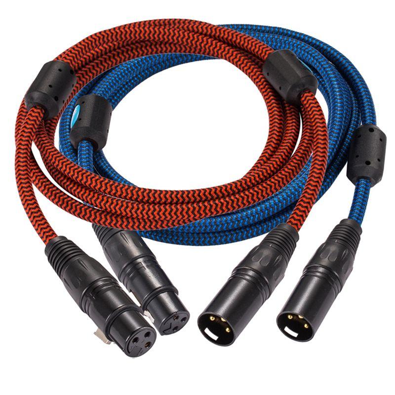 Une paire XLR 3 broches mâle à femelle Audiophile haut-parleur câble amplificateur Microphone XLR Extension câble équilibré Audio 1M 2M 3M 5M 8M