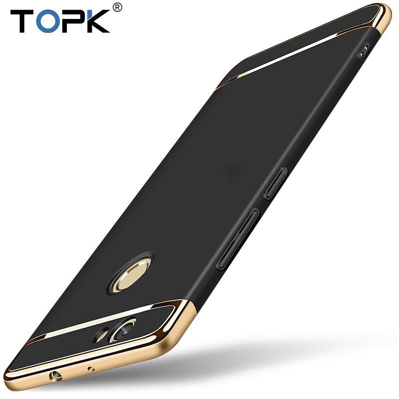 Pour Huawei Nova Cas, TOPK Prime Placage Anti-Frapper Lisse En Plastique Dur Cas de Téléphone De Protection pour Huawei Nova
