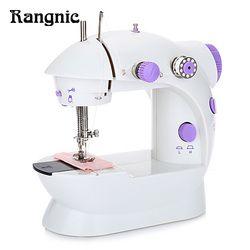 New Mini Handheld Sewing Machine Dual Speed Double Thread Multifunction EU Electric Mini Automatic Tread Rewind Sewing Machine