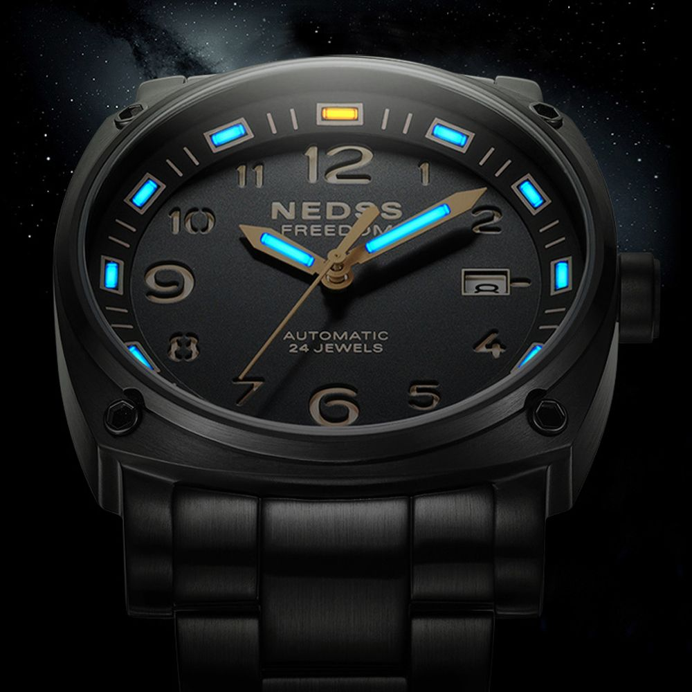 High quality luxury brand NEDSS tritium men automatic 24 jewels watch mechanical watches 5ATM waterproof relogios relojes hombre