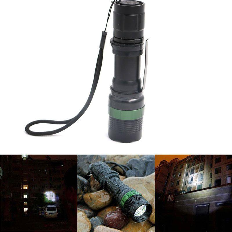 Lampe de poche tactique Cree Xml T6 forte lumière de poche Zoom réglable foyer torche LED lanterne chasse randonnée lampe de Police
