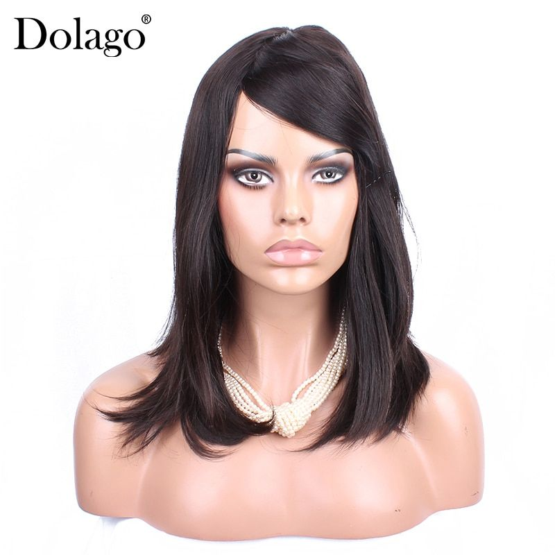 Kosher Jewish Wig Lace Front Human Hair Wigs With Baby Hair European Virgin Hair Wig Short Frontal Wig Dolago