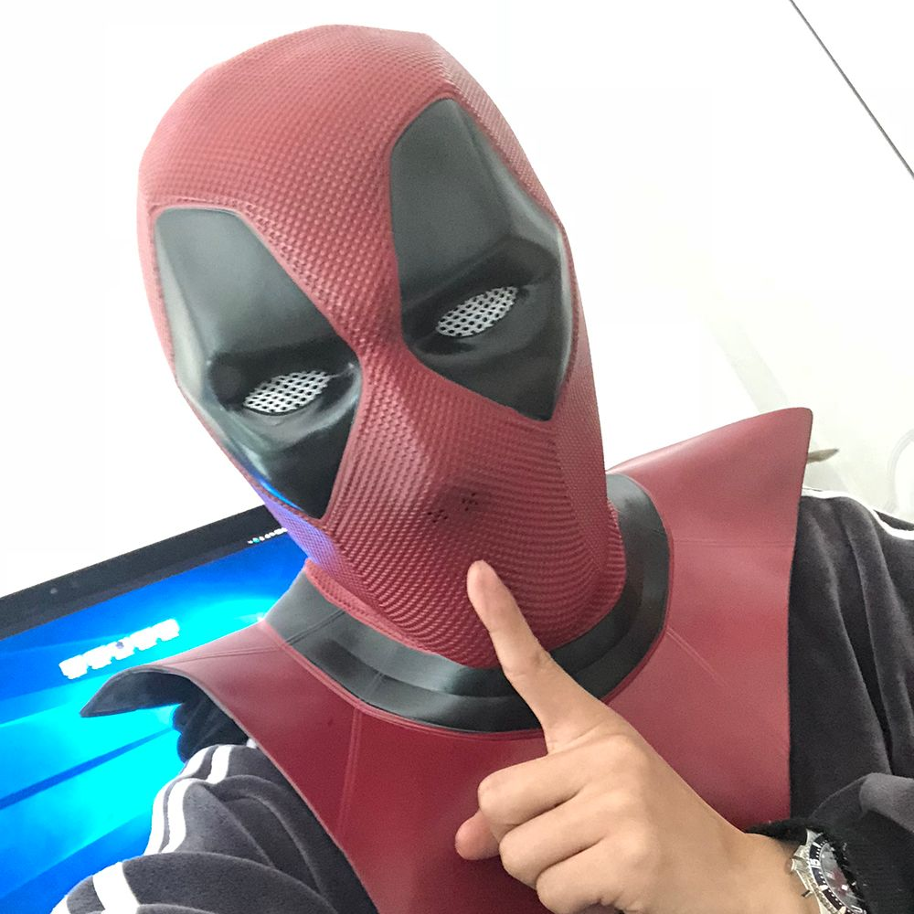 2018 New Moive Deadpool 2 Mask Breathable PVC Full Face Mask Halloween Cosplay Props Wholesale Hood Helmet On Sale!!!