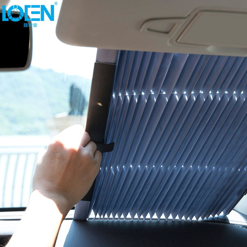 46CM/65CM/70CM/80CM Upgarde Retracta'ble SUV Truck Car Front Windshield Sunshade Rear Window Sun Visor UV Protection Curtain