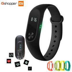 Original Xiao mi banda 2 Band2 wristband opcional colorido correas IP67 impermeable Smart Band Monitor de ritmo cardíaco Sleep Tracker