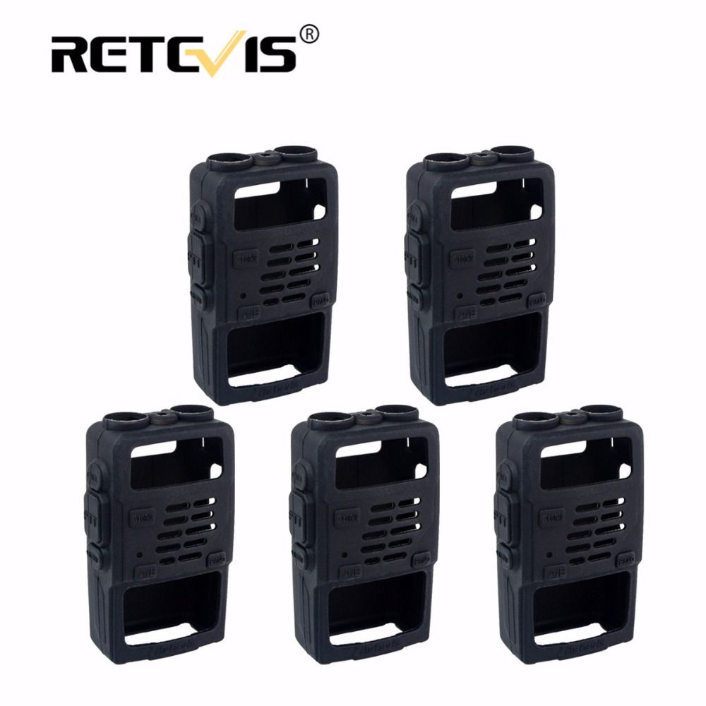5pcs Walkie Talkie Rubber Holster Case for Baofeng UV-5R UV 5R UV5R UV-5RA UV-5RE for Retevis RT5R RT-5R For TYT TH-F8 cb radio