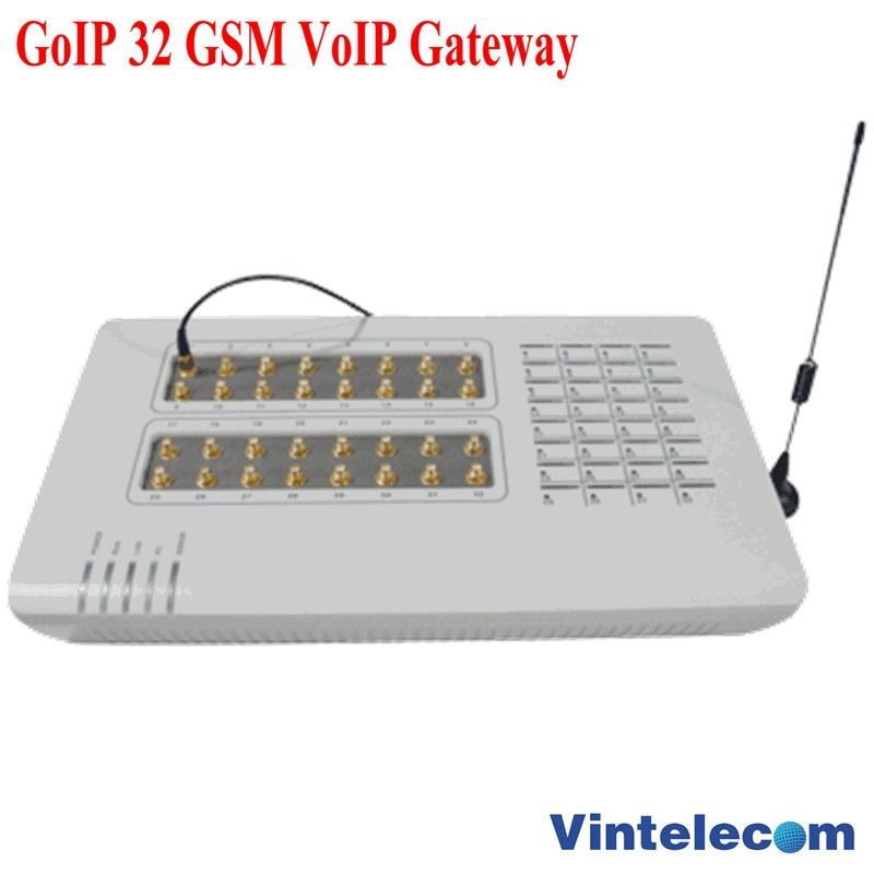 GoIP32 GSM VOIP with 32 SIM ports GoIP32 for IP PBX / Router / Support bulk SMS and IMEI changeable-special price offer
