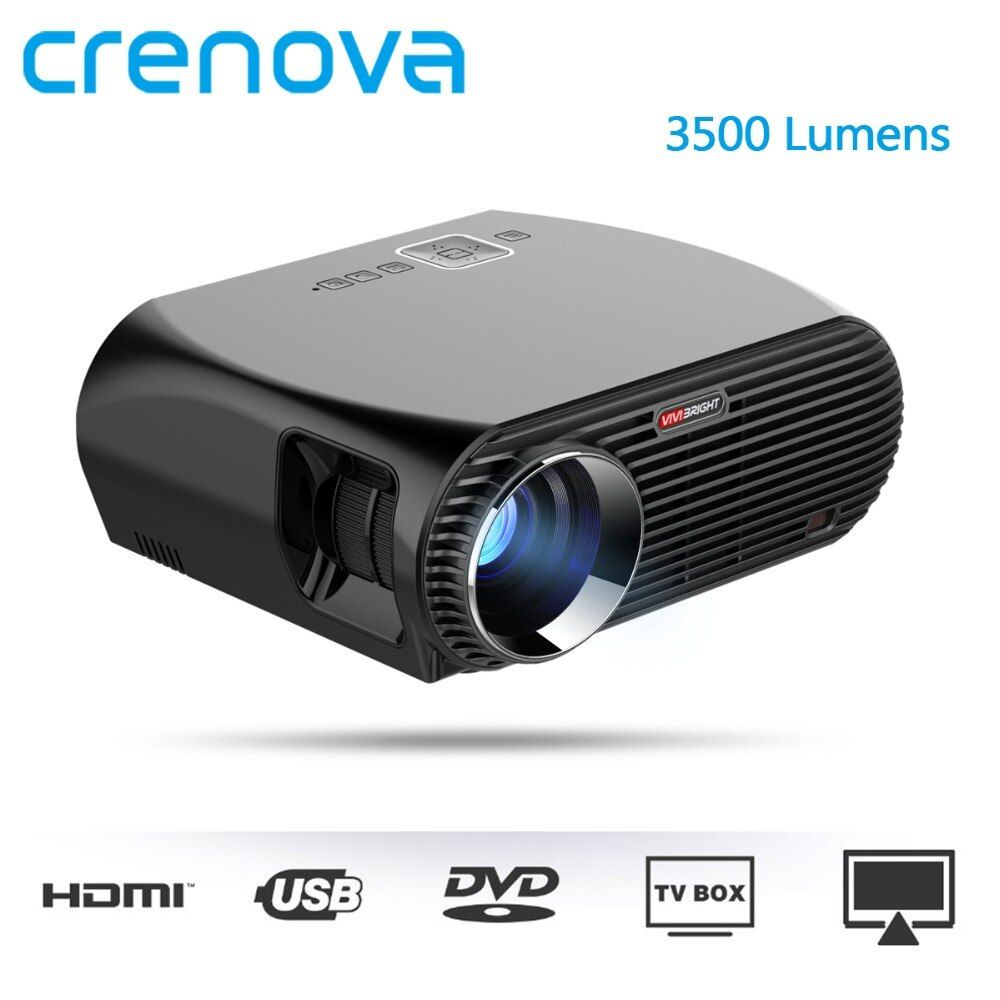 CRENOVA 3500 Lumens Led Projector With WIFI Bluetooth Home Theater Movie Beamer With Android 6.1 OS support 4K Video Projector