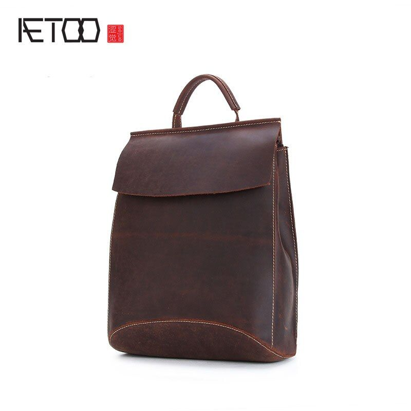 AETOOTide cobbler new mad horse skin men and women shoulder bag head layer of leather handmade mad horse skin spot foreign trade