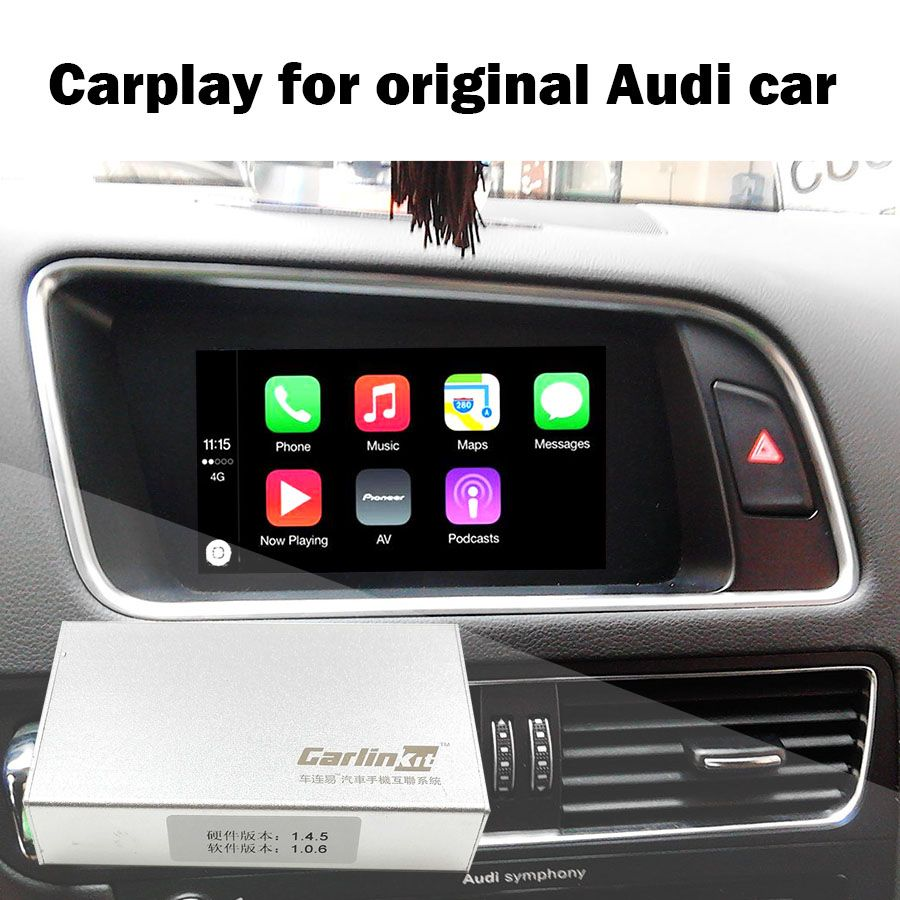 Camera Interface with Dynamic Parking Guideline IPAS Carplay Box for A4 A4L A5 S5 Q5 Original Screen Upgrade MMI system Carplay