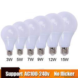 Qualidade superior conduziu a lâmpada do bulbo e27 lampa B22 3 w 5 w 7 w 9 w 15 w 18 w para 100 v 110 v 220 v 230 v Casa De Poupança De Energia de Iluminação de alumínio de refrigeração