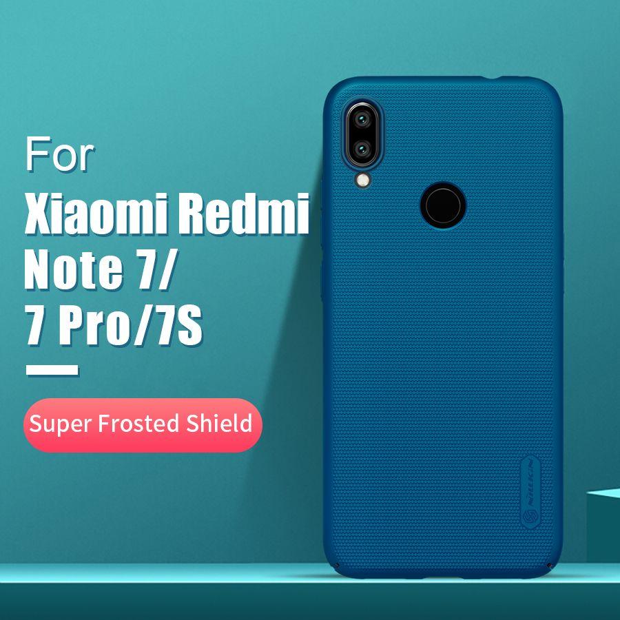 Redmi note 7 étui 6.3 NILLKIN givré PC mat couverture arrière rigide cadeau support pour téléphone pour xiaomi redmi note 7 pro étui redmi note 7s