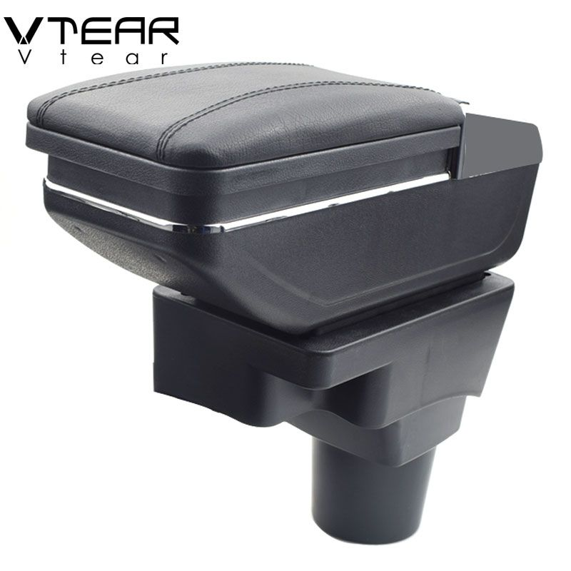 Vtear for Chevrolet Aveo Sonic Lova T250 T300 armrest box central Store content Storage box cup holder car-styling accessories