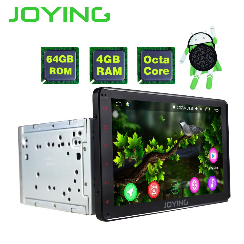 JOYING 2din Android Car Radio 8.0 4gb+64gb 8 Core HD 8'' lcd bluetooth touch For Toyota Corolla Camry Avensis Prius RAV4 Hilux