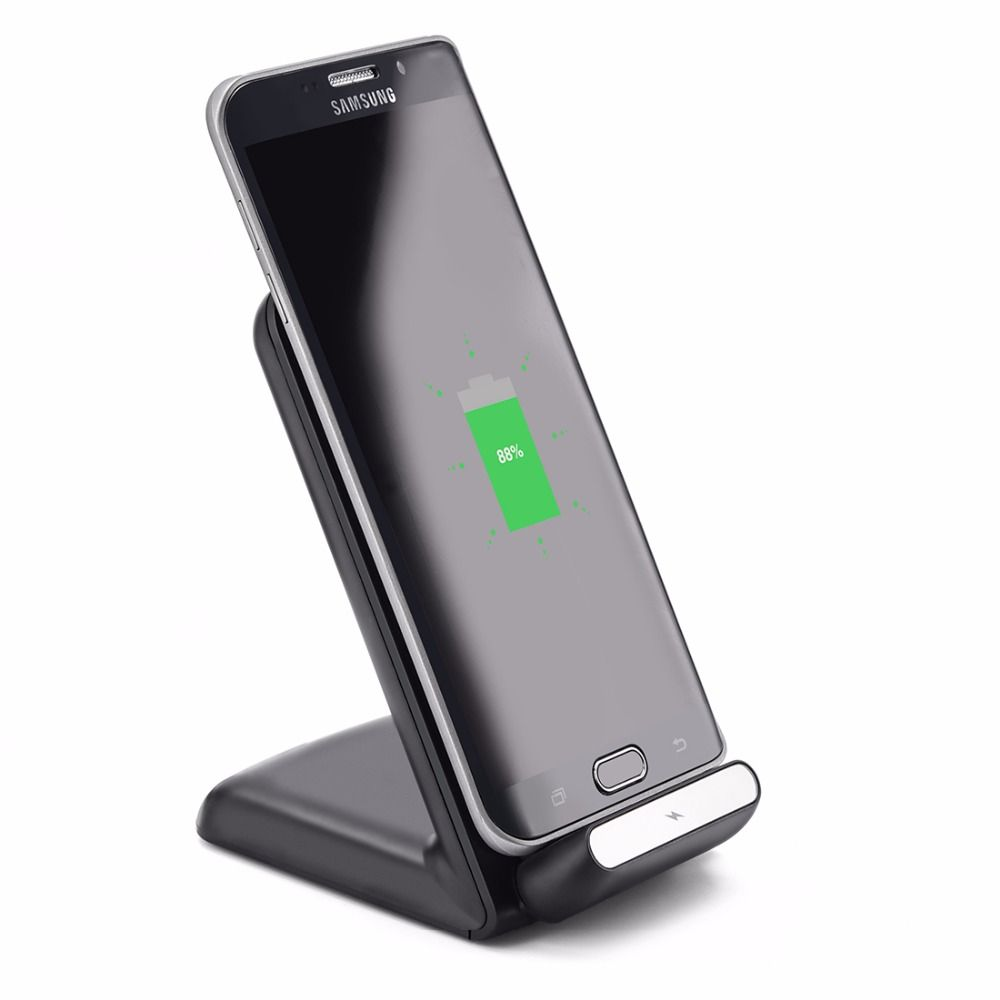 Quick Wireless Charger,Itian Fast Wireless Charging Stand for iPhone 8 iPhone X Samsung Note8/S8/S8+//S6 edge/Note5/S7/S7 edge