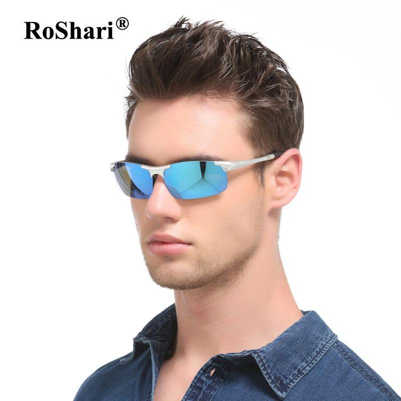 Roshari винтажные брендовые поляризационные Солнцезащитные очки для женщин Для мужчин зеркало вождения Защита от солнца Очки для Для мужчин П...