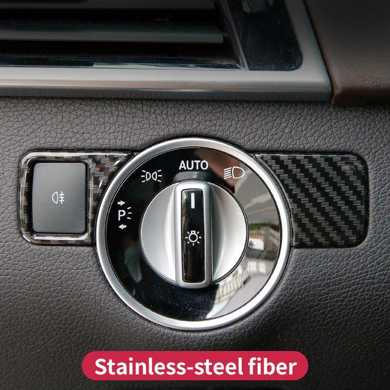 Pour Mercedes benz ml350 gl gls x166 gle 350d w166 coupé c292 amg A w176 B W246 CLA C117 glk x204 garniture de bouton de commutation de phare