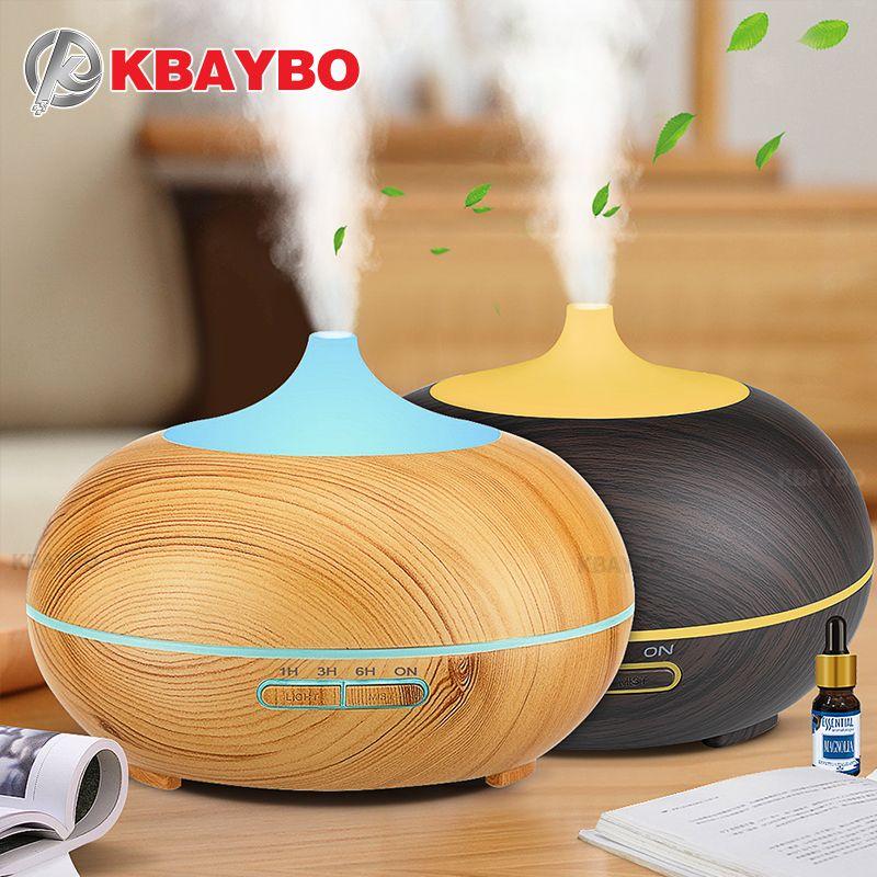 300 ml Aroma Diffuseur Aromathérapie Bois Grain Huile Essentielle Diffuseur À Ultrasons Humidificateur à vapeur Froide pour Home Office
