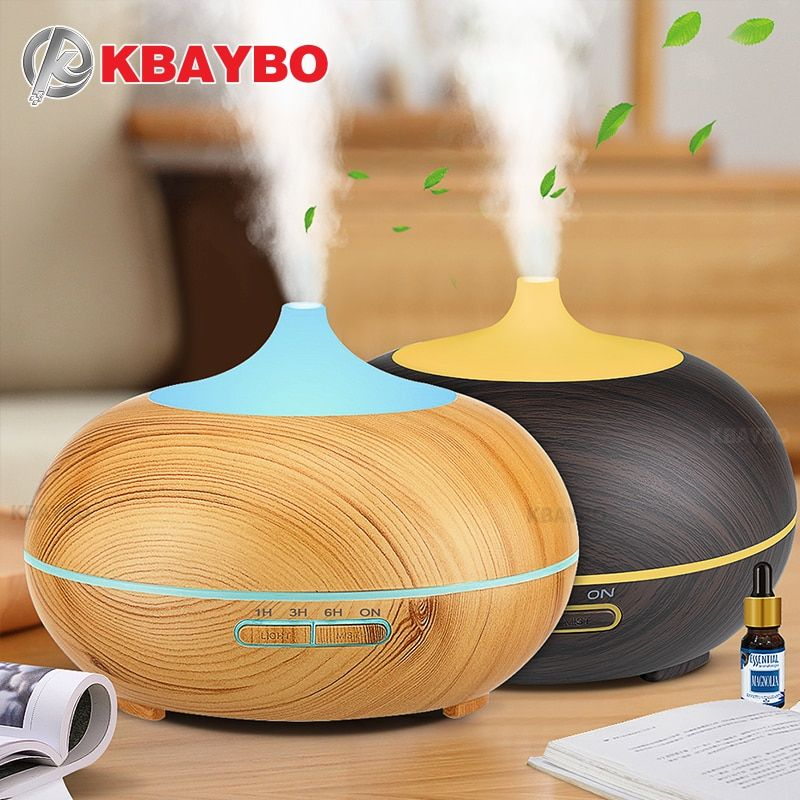 300ml Aroma Diffuser Aromatherapy Wood Grain Essential Oil Diffuser Ultrasonic Cool Mist <font><b>Humidifier</b></font> for Office Home
