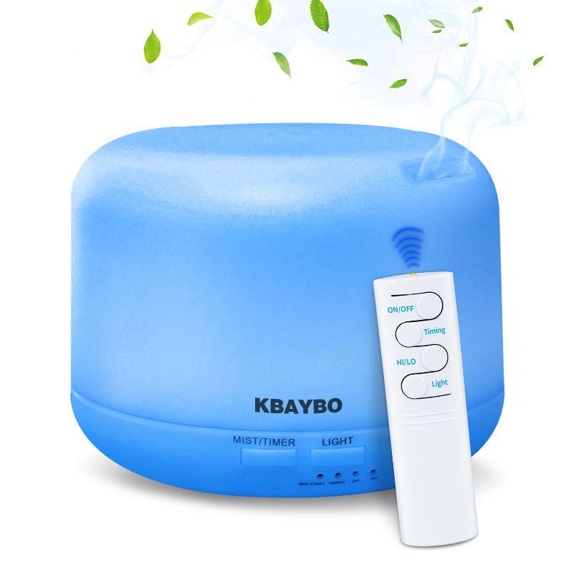 Humidificateur ultrasonique d'arome d'air d'usb 300ML avec 7 lumières de couleur télécommande électrique de diffuseur d'arome d'huile essentielle d'aromathérapie