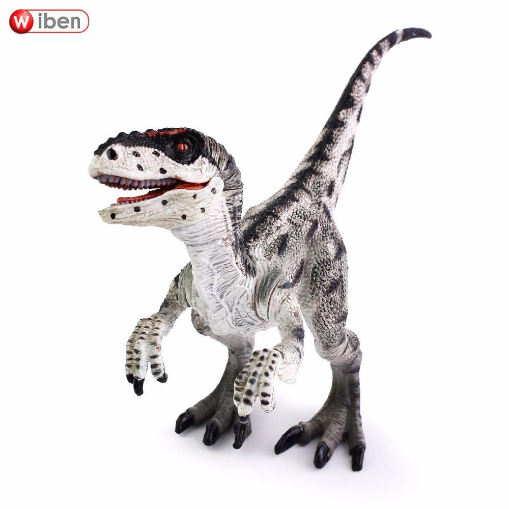 Wiben Jurassic Velociraptor dinosaure Action & jouet figurines Animal modèle Collection apprentissage & éducatif enfants anniversaire garçon cadeau
