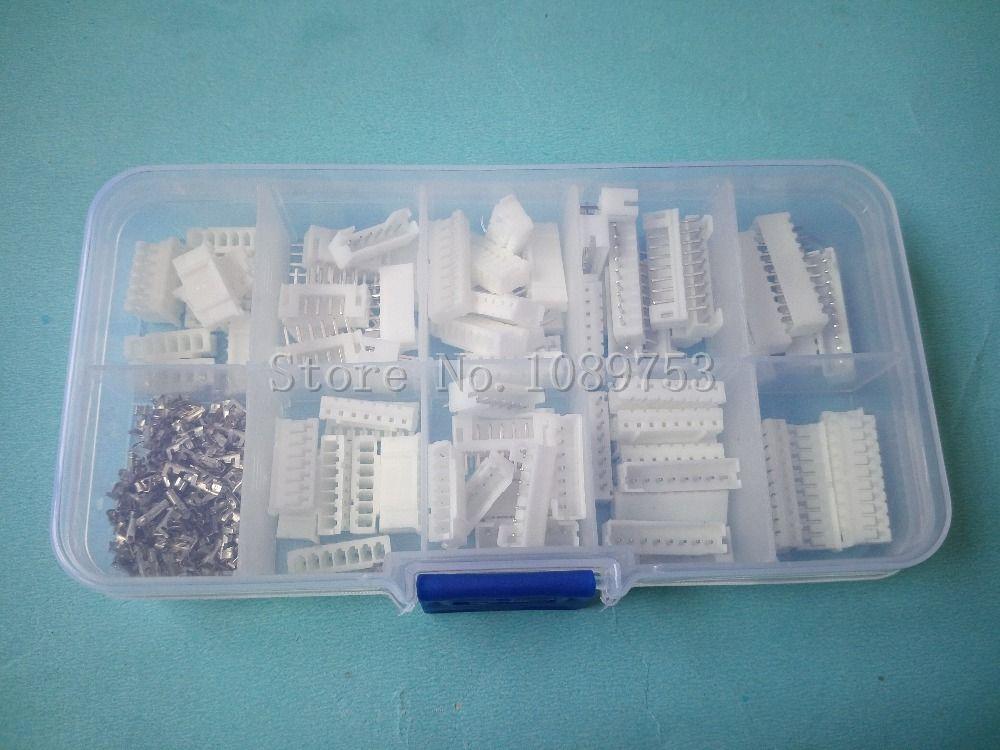 50 ensembles Kit 6 p 7 p 8 p 9 p 10 broches 2.0mm de Hauteur Terminal/Logement/Pin Header Connecteur Fil Connecteurs Adaptateur PH Kits