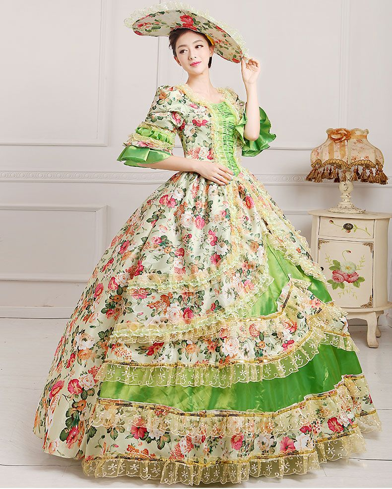 FREE PP S-3XL Medieval Renaissance Princess Victorian Ball Dress Medieval Court Party Halloween Costume For Women 10 colors XXXL