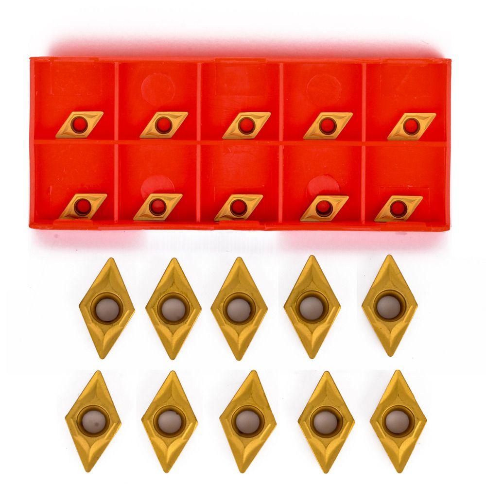10 stücke Hohe Zähigkeit DCMT070204 YBC251 Wendeschneidplatten Für Drehmaschine Drehwerkzeug Bohrstangen
