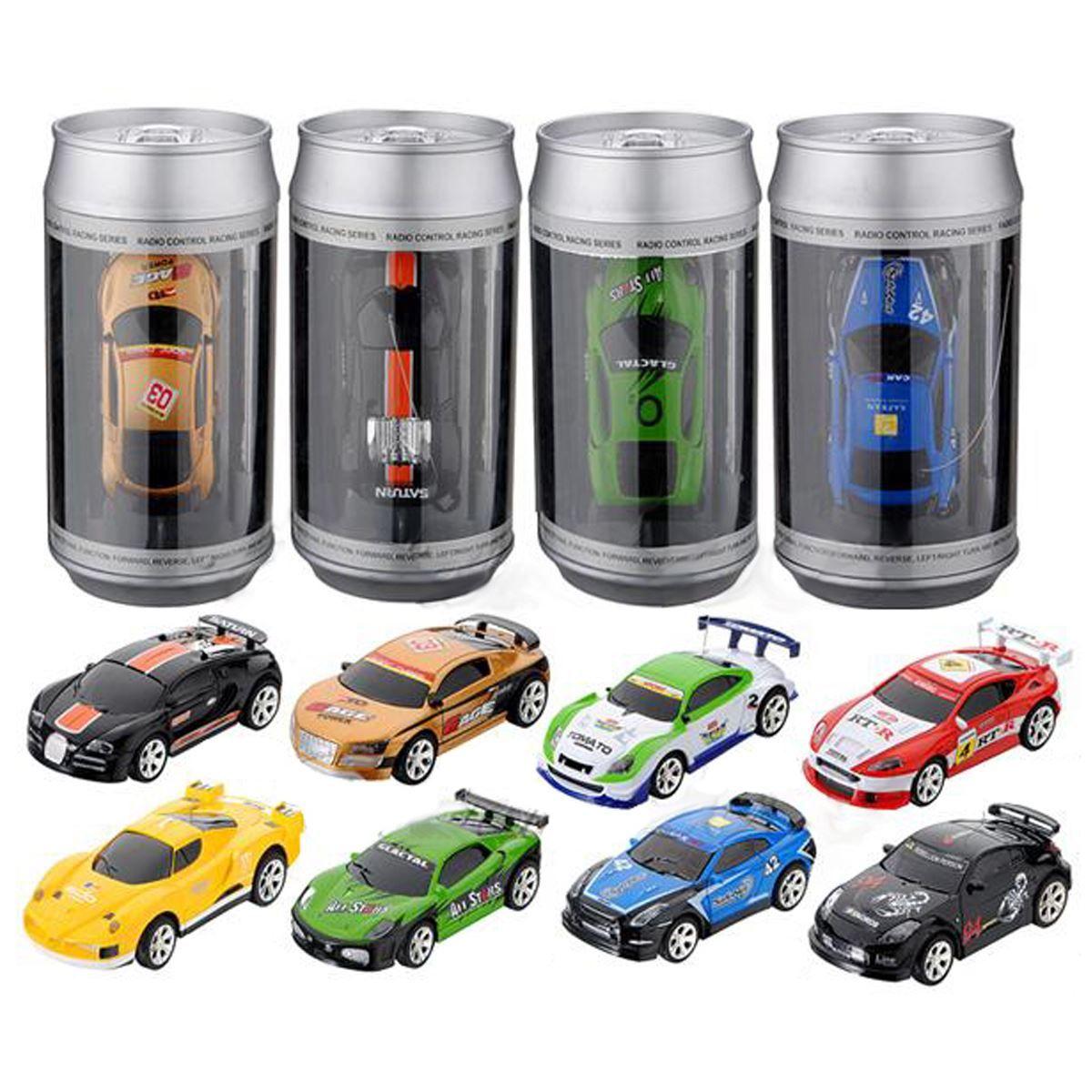 8 couleurs offres spéciales 20 KM/H Coke peut Mini RC voiture Radio télécommande Micro voiture de course 4 fréquences jouet pour enfants