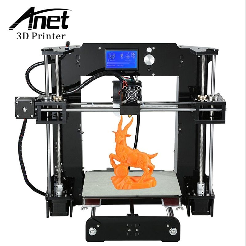 ANET A6 Upgraded Prusa i3 3D printer Easy Assemble PLA/ABS Filament 16GB SD Card Knob LCD screen High Quality Cheap 3D printer