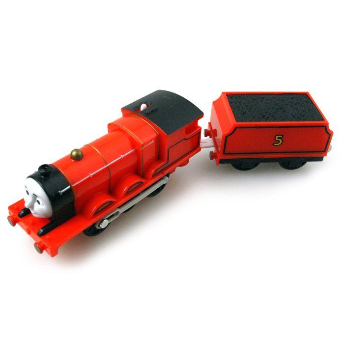 T0213 Электрический ТОМАС и друг Джеймс с каретки Trackmaster двигатель моторизованный поезд Chinldren ребенок дети пластиковые игрушки
