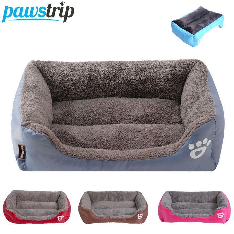 S-3XL 9 couleurs patte Pet canapé chien lits imperméable bas doux polaire chaud chat lit maison Petshop cama perro