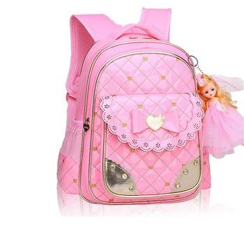 fashion girl schoolbag cute school backpack orthopedic school bags for girls Korean style student bag girl pink leather backpack