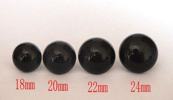 black plastic Safety Eyes Mixed Size For Amigurumi Toys 18-24mm can choose