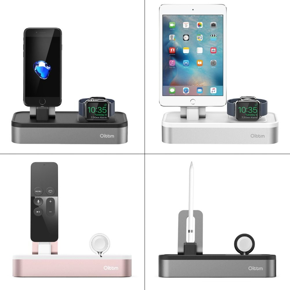 For Apple Watch Charger 4 USB Port Charger Dock For Apple Watch Series 3/2/ iPhone X/ 8 / 8 Plus/ 7/ 7 Plus /6/6S Charging Stand