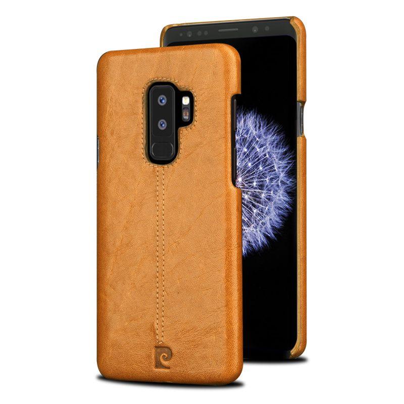 Original Pierre Cardin Case For Samsung Galaxy S9 Plus Back Case Cover Vintage Genuine Leather Case For Samsung Galaxy S9/ Plus