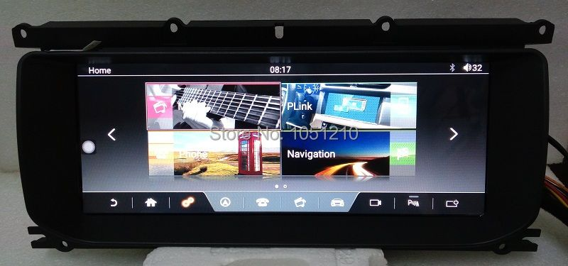 Ouchuangbo android 7.1 audio-player radio für Range Rover Evoque 2011-2018 unterstützung bluetooth gps navigation mp3 2 GB + 32 GB