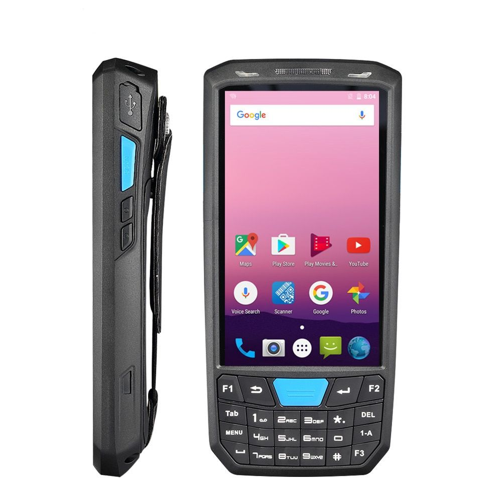 Handheld 4G Android 7.0 PDA 1D/2D Honeywell barcode-leser 4,5 inch HD touch screen POS terminal drahtlose wifi bar code reader