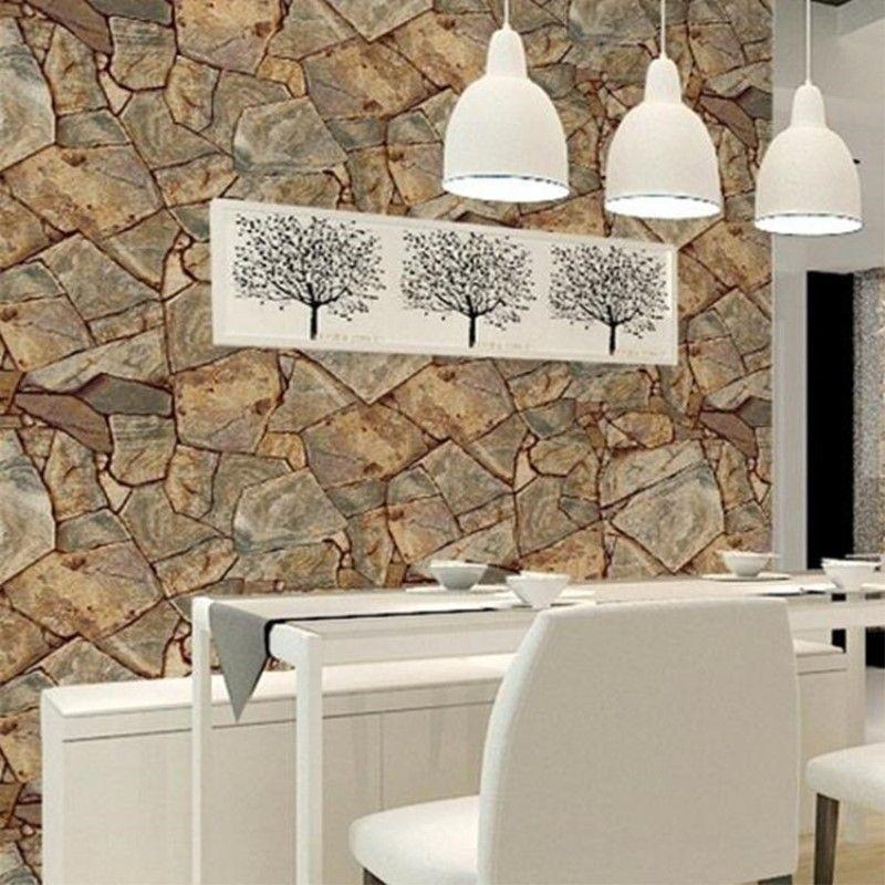 53 cm X 10 mt Klassische stein riff tapete schlafzimmer wohnzimmer hotel restaurant PVC wasserdichte tapete papel de parede
