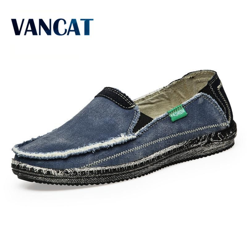 New arrival Low price Mens Breathable High Quality Casual Shoes Jeans Canvas Casual Shoes Slip On men Fashion Flats Loafer
