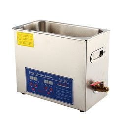 Stainless Steel 6 L Liter Industry Heated Ultrasonic Cleaner Heater with Timer