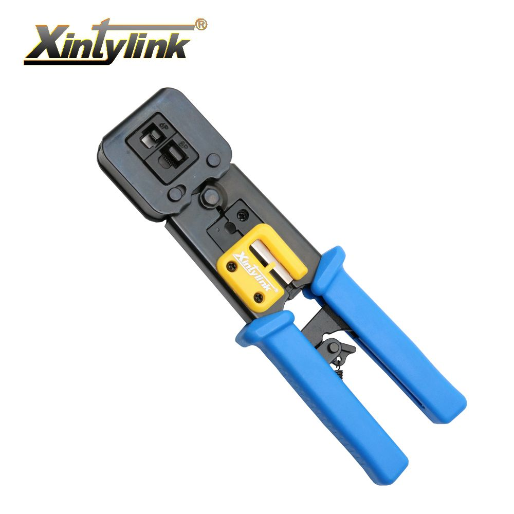 xintylink network tools EZ RJ45 crimper RJ12 cat5 cat6 8p8c Cable Stripper pressing clamp rj45 pliers tongs clip multifunction