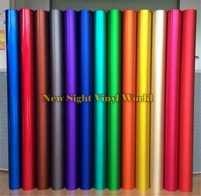 Best Quality Blue & Green & Red & Gold ICE Satin Chrome Car Vinyl Wrap Film Matte Chrome Vinyl Wrapping Bubble Free Car Wrapping