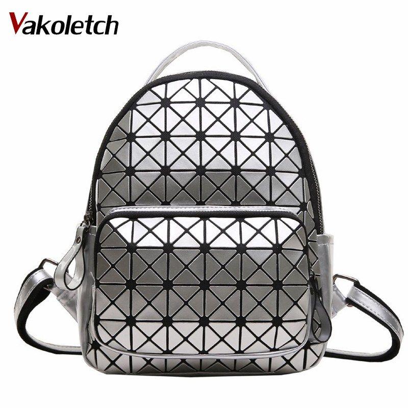 2018 School Backpack For Teenag Girls Fashion Geometric Women Backpack Famous Brand Baobao Backpacks Female Mochila Escolar K102