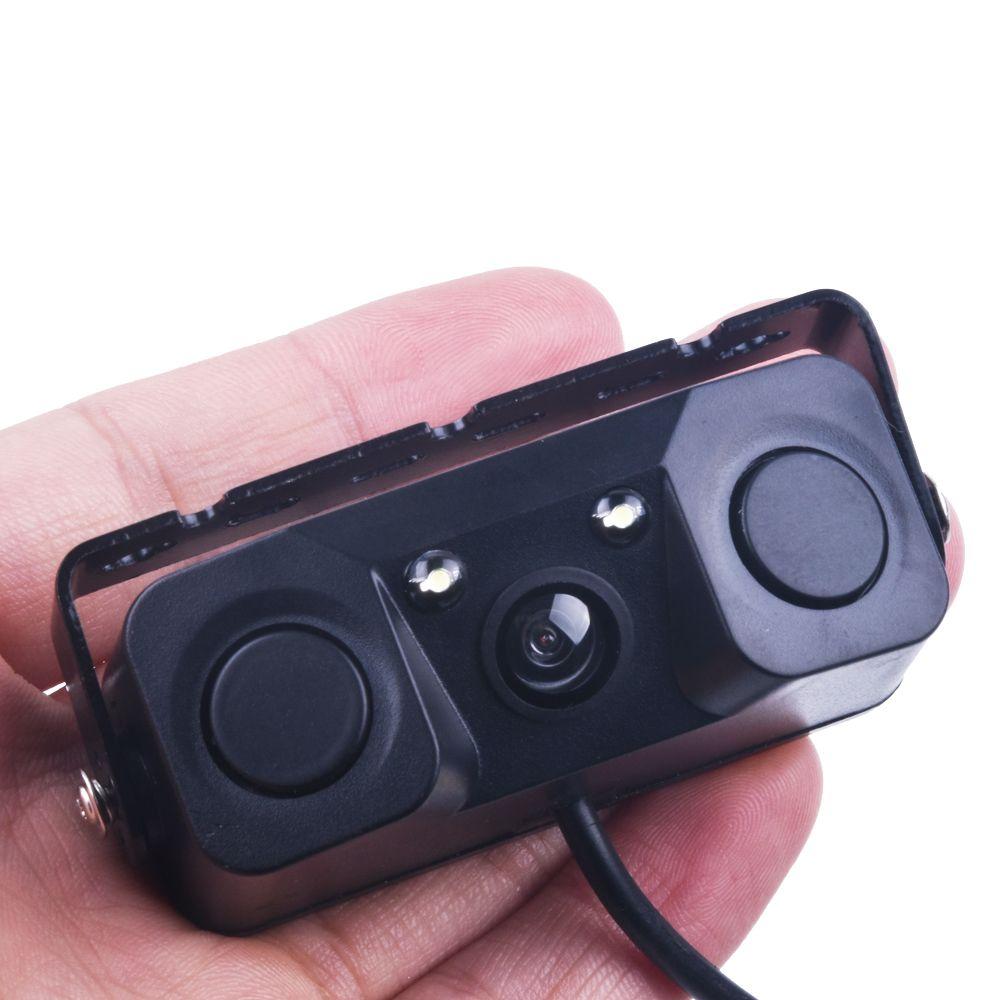 3 EN 1 Vidéo Capteur de Stationnement Inverse De Voiture De Sauvegarde Caméra de Recul avec 2 Radar Détecteur Capteurs BiBi Alarme Indicateur