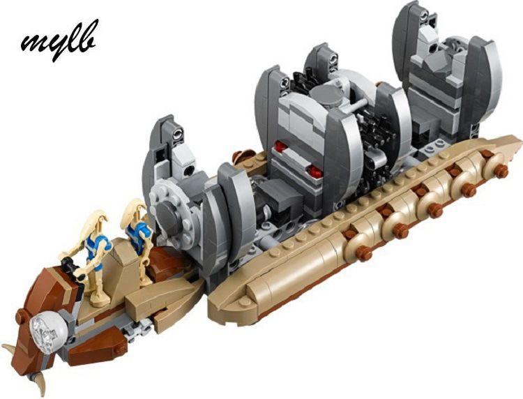 Mylb nouveau 565 pièces Star Wars bataille droïde transporteur de troupes vaisseau spatial navire croiseur bocal Binks blaster brinquedos avec bricolage