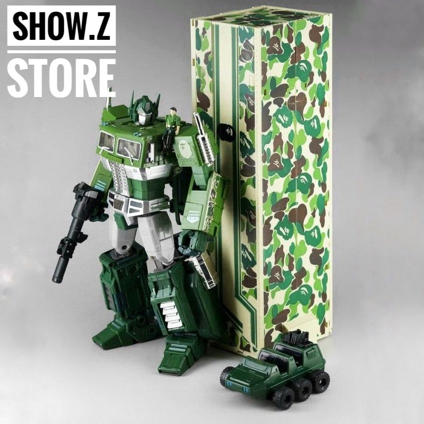 [Show.Z Store] 4th Party MP10A OP Convoy Bape Green Camo Version Transformation Action Figure