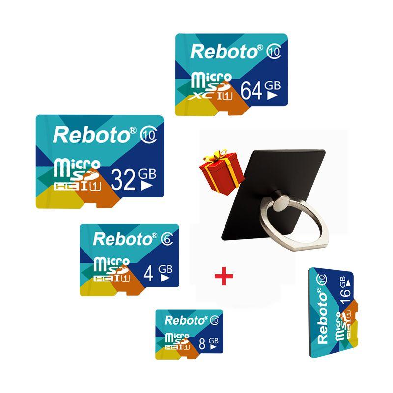 Reboto 2017 New Arrival 4gb 8gb 16gb 32gb 64gb Real Micro SD Card High Quality TF Card Memory Card Trans Flash Memory Flash Card
