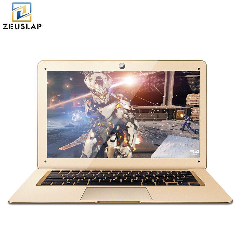 ZEUSLAP 8GB+240GB+750GB Windows10 Ultrathin Quad Core Fast Boot Multi-language System Laptop Notebook Netbook Computer